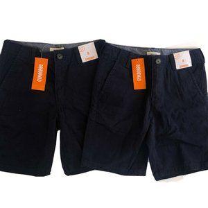 Gymboree Boys Shorts Size 8 Navy Prep Fit Flat Fro